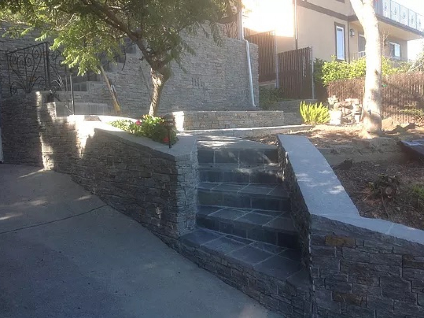 retaining wall installation in san carlos ca